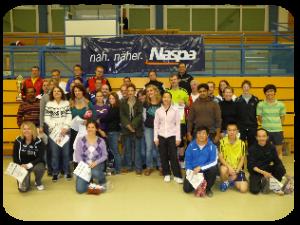 Sieger und Besiegte der 11. Naspa-Badminton-Challenge 2011